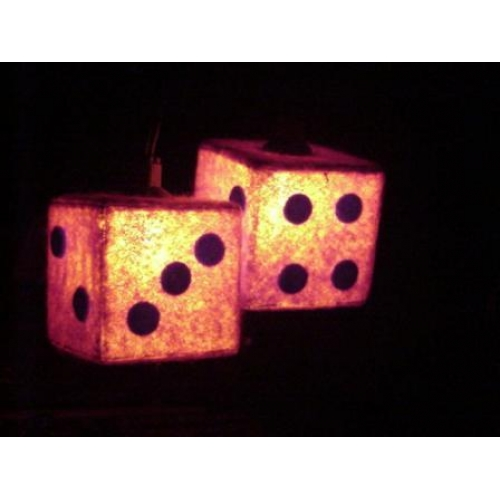 Lighted Dice Sold In Pairs
